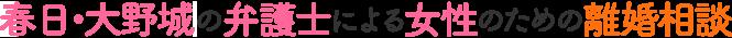 弁護士による春日・大野城の女性のための離婚相談|弁護士法人福岡リバティ法律事務所(福岡県弁護士会所属)